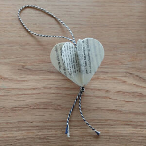 hart hangertje cadeautje boekselen