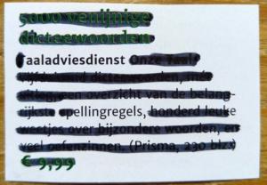 ippen met de spellingregels van de taaladviesdienst
