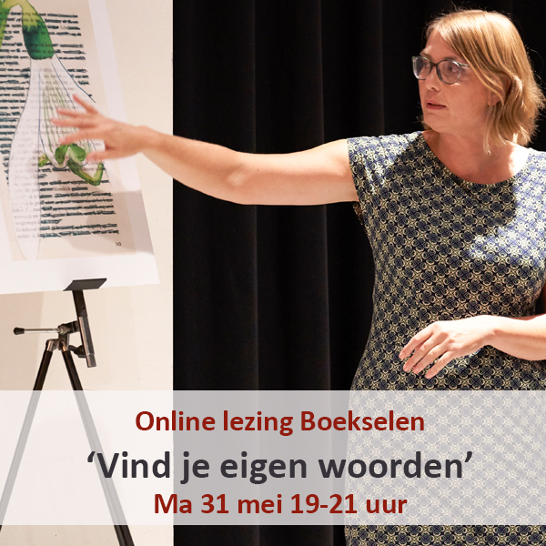 Lezing over boekselen altered text found poetry Loes Vork